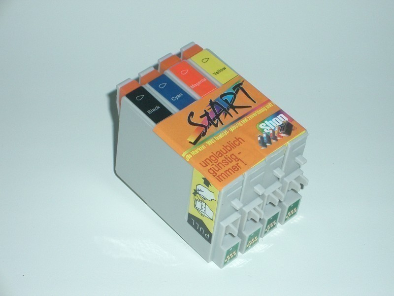 20 Compatible Ink Cartridges to Epson T0441 - T0444  (BK, C, M, Y)