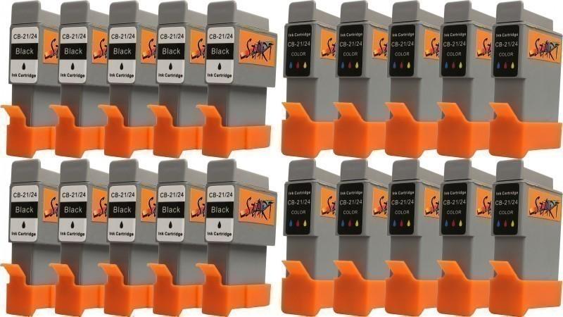 20 Ersatz Patronen kompatibel zu BCI-21 / BCI-24, Schwarz, Farbe