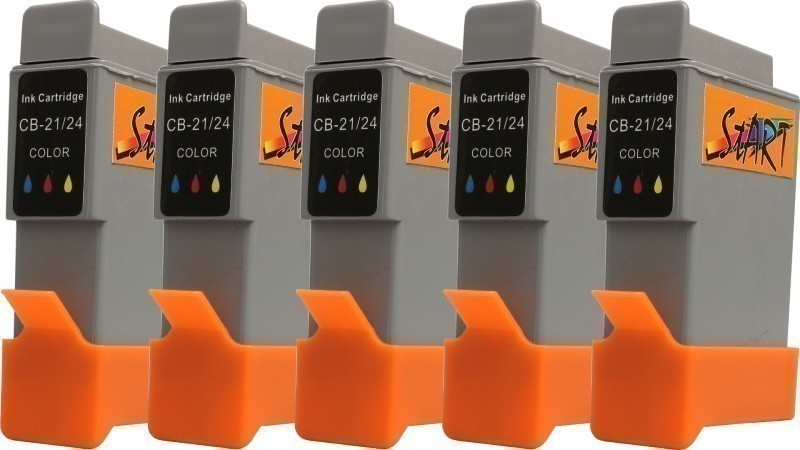 5 Compatible Ink Cartridges to Canon BCI-24 C  (Colours)