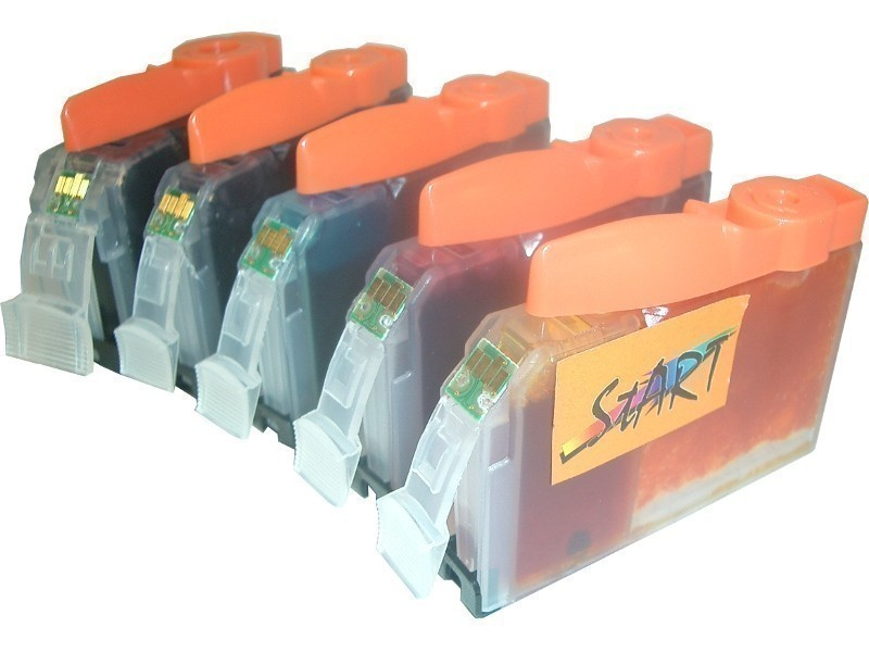 5 Compatible Cleaning Cartridges to Canon PGI-525 / CLI-526  (BK, PHBK, C, M, Y)