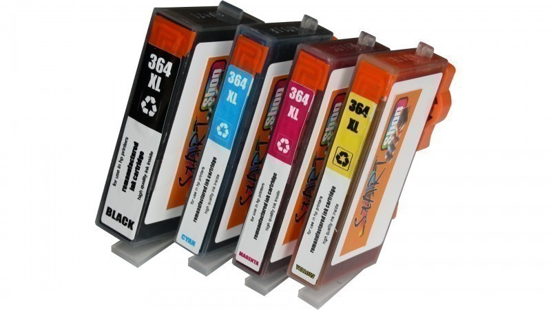 4 Compatible Ink Cartridges to HP HP364  (BK, C, M, Y)