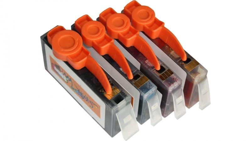5 Ersatz Chip Tintenpatronen kompatibel zu HP 364XL mit Füllstandsanzeige