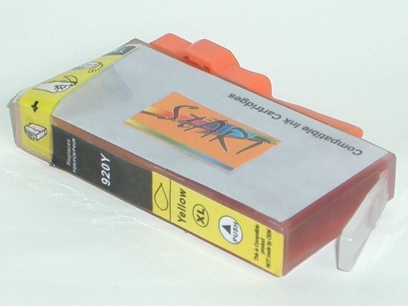 Ersatz Chip Tintenpatrone kompatibel zu HP 920XL Gelb - Neu mit Füllstandsanzeige