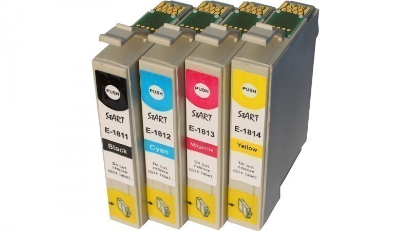 4 Compatible Ink Cartridges to Epson T1811 - T1814  (BK, C, M, Y)