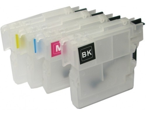 4 Compatible Refill Cartridges to Brother LC985  (BK, C, M, Y)