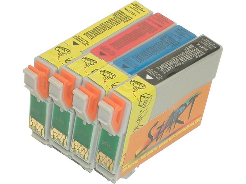 4 Chip Reinigungspatronen kompatibel zu Epson T1281, T1282, T1283, T1284 zur Druckkopfreinigung