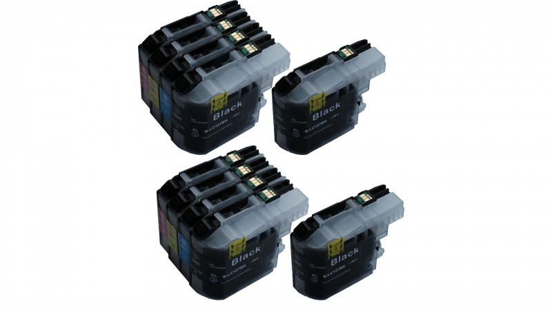 10 Compatible Ink Cartridges to Brother LC127 / LC125  (BK, C, M, Y) XL (4|2|2|2)