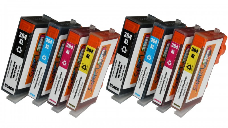 8 Compatible Ink Cartridges to HP HP364  (BK, C, M, Y)