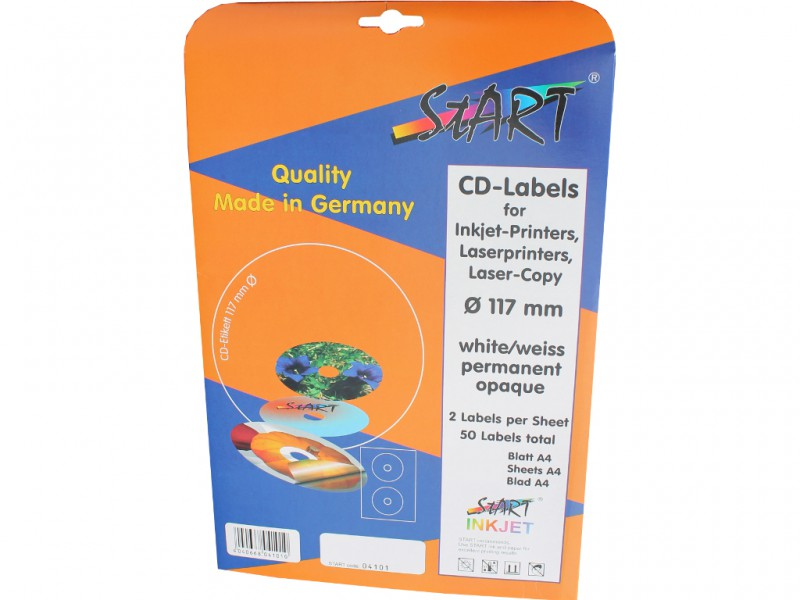 100 sheets Special Offer! CD DVD Labels (2 label for each sheet on DIN A4) for Inkjet & Laser Printer