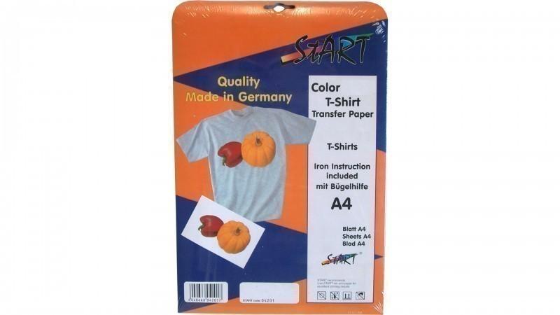 20 Blatt DIN A4 Super T-Shirt Folie für Tintenstrahldrucker, speziell für helle Stoffe