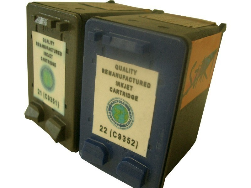 2 Compatible Ink Cartridges to HP HP21 + HP22  (BK & Colours)