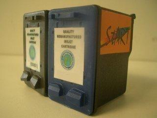 2 Ersatz Patronen kompatibel zu HP 22 Farbe / HP 27 Schwarz