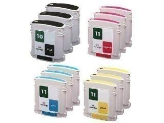 4 Compatible Ink Cartridges to HP HP10 + HP11  (BK, C, M, Y)