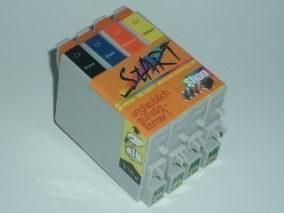 4 Compatible Ink Cartridges to Epson T0611 - T0614  (BK, C, M, Y)