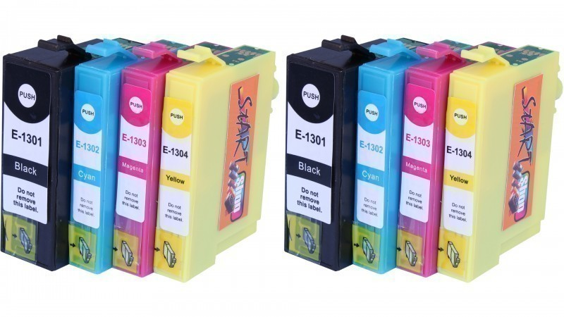 8 Compatible Ink Cartridges to Epson T1301 - T1304  (BK, C, M, Y)
