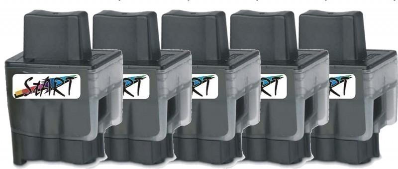 5 Ersatz Patronen kompatibel zu Brother LC900 BK Schwarz