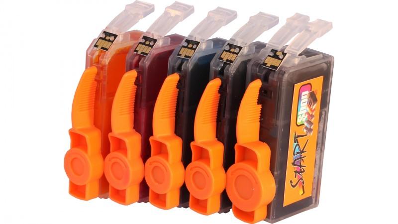 10 Ersatz CHIP Patronen kompatibel zu Canon PGI-5 / CLI-8