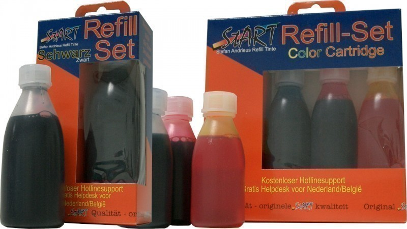 250 ml. Compatible Refill Ink to Brother LC900  (BK, C, M, Y)