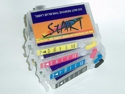 4 Compatible Refill Cartridges to Epson T0711 - T0714  (BK, C, M, Y)