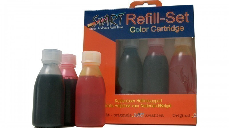 250 ml. Compatible Refill Ink to HP HP350 + HP351  (BK, C, M, Y)