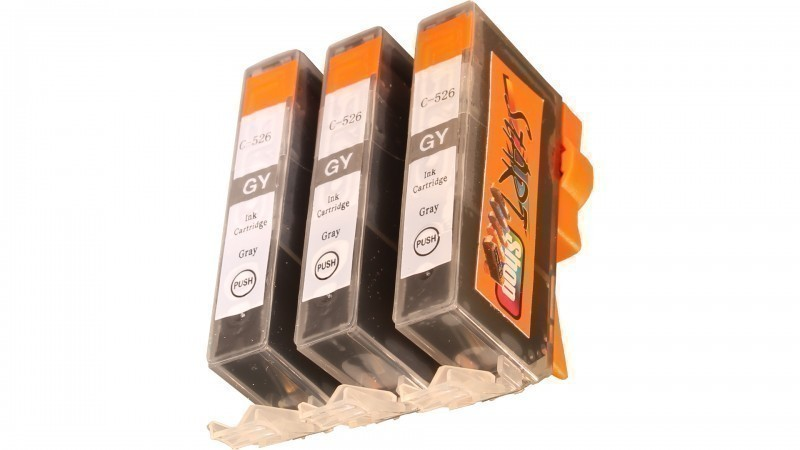 3 Compatible Ink Cartridges to Canon CLI-526  (GY)